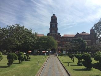 The Yangon town hall