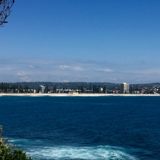 Looking onto Manly Beach