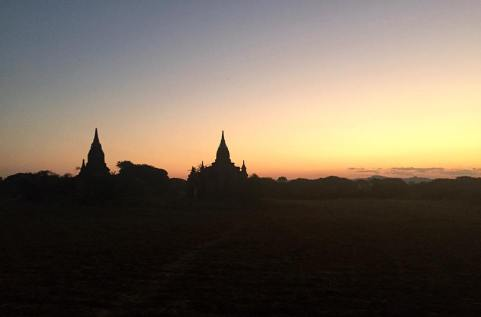 Sunset glow across Bagan