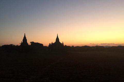 Sunset glow across Bagan