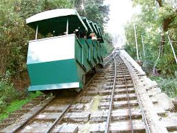 The funicular to get up to San Cristobal Hill