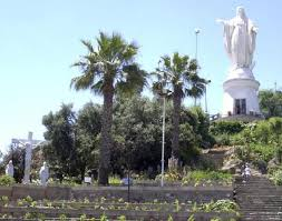 Top of San Cristobal Hill, the statue of the Virgin Mary resides