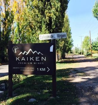 Entry to Kaiken in Lujan de Cuyo