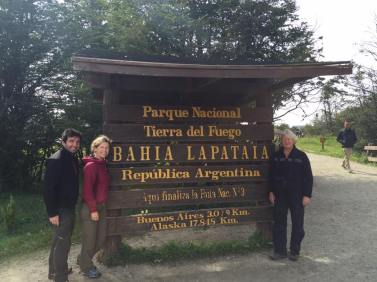 Entrance to the national park of Terra del Fuego