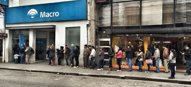 Lines in Argentina are the norm