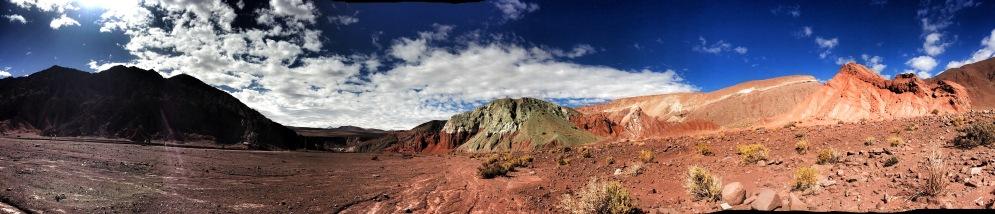 Rainbow rocks landscape