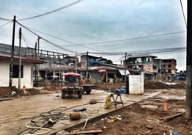 The town of Puerto Maldondo looking a bit of a mess