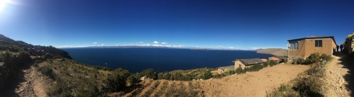 Looking out from Isla del Sol