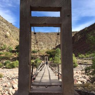 Foot bridge across the gorge