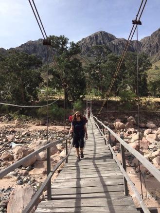 Wandering across that foot bridge