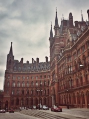 The iconic building of St Pancras