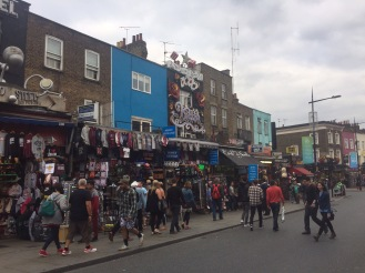 The busy streets of Camden on a Sunday