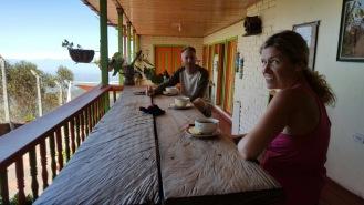 Having our refreshment break at El Rocio