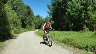 Cycling the final uphill