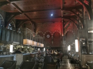 The bar in the hotel in St Pancras