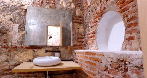 Bathroom in the old building