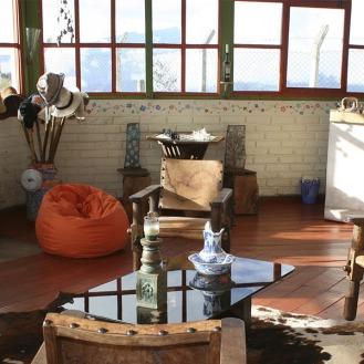 The living room in El Ricio with 270 degree views