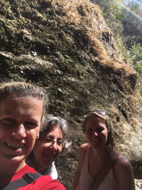 The three of us at the waterfall