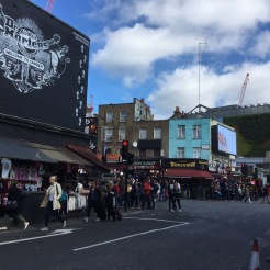 Tourists and Londoners out in Camden