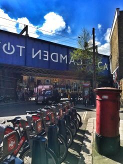 One of the bike stations in Camden