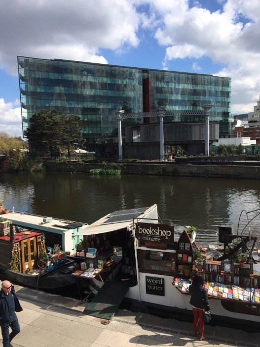 Need some new reading material, you can pick it up on this barge by Granary Square