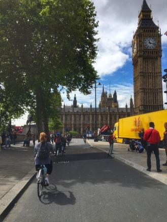 Cycling up to Big Ben