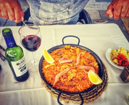 When in Spain, paella is called for