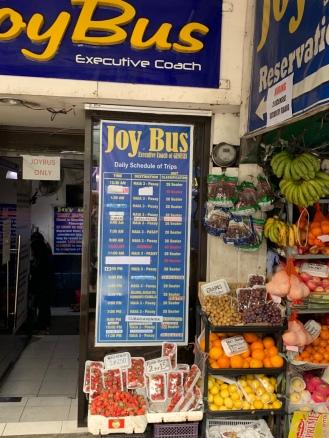 The Joy Bus table as of Jab 2018