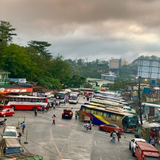 The bus station at Government Road, Baguio