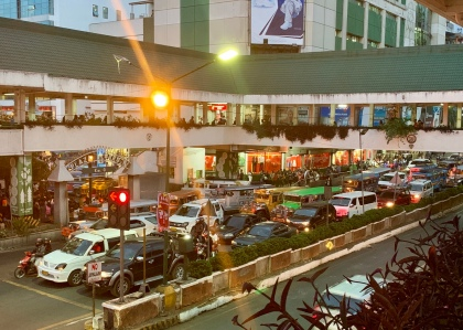 Traffic in Baguio was constant