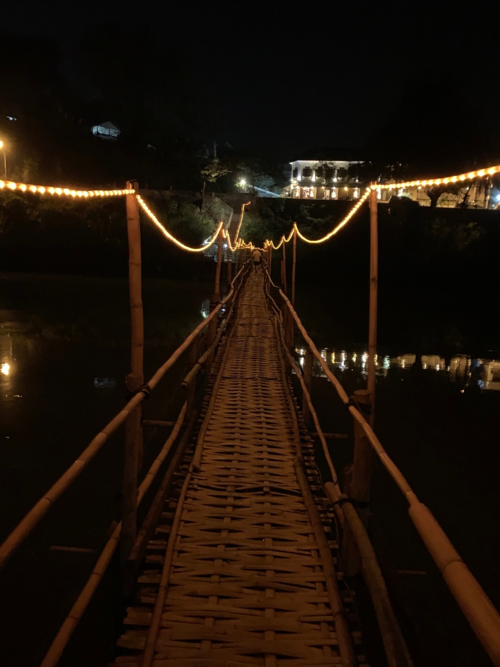 The Bamboo Bridge by night