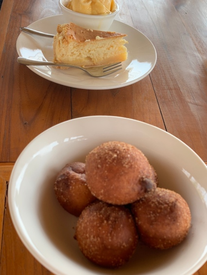 Donuts made with ricotta cheese using buffalo milk