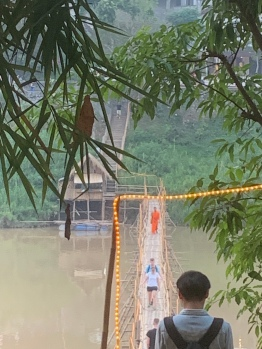 To use the Bamboo bridge it costs 5,000 kip but monks go free!