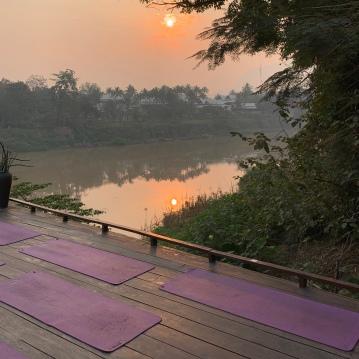 Sunrise over the Nam Khan river